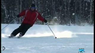 Смотреть онлайн Изучаем виды поворотов на горных лыжах