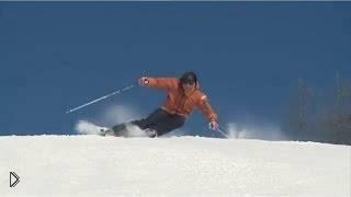 Смотреть онлайн Как совершать динамически повороты на лыжах