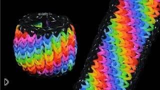 Смотреть онлайн Простой способ плетения широкого браслета