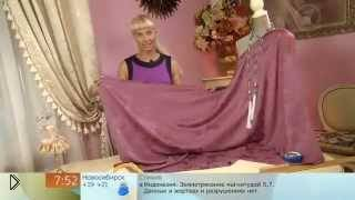 Смотреть онлайн Романтичная блуза-платье из шерсти