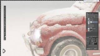Идея для фотошопа: машина в снегу - Видео онлайн