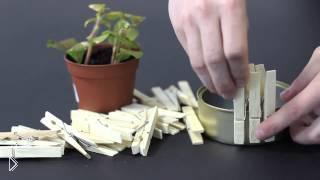 Смотреть онлайн Как сделать миниатюрный горшочек для цветка за 5 минут