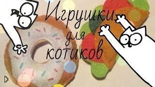 Смотреть онлайн DIY: делаем своими руками маленькие игрушки для котэ