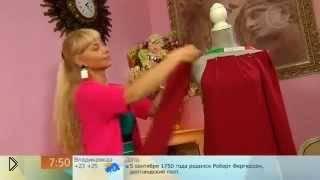 Смотреть онлайн Элегантное трикотажное платье на осень
