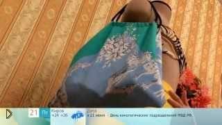 Смотреть онлайн Как сшить пляжную сумку из двух платков