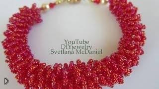 Смотреть онлайн Учимся плести украшения из бисерного меха