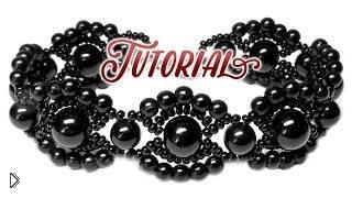 Черный винтажный браслет из бусин и бисера - Видео онлайн