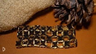 Смотреть онлайн Плетение из бисера: широкий элегантный браслет