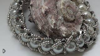 Смотреть онлайн Советы по плетению гламурного браслета из бисера