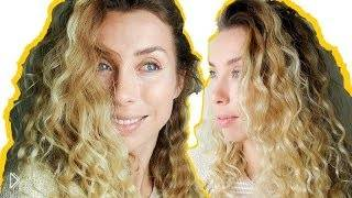 Смотреть онлайн Кудрявые волосы без вреда, красивая укладка