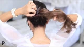 Смотреть онлайн Прическа на себе: красивый хвостик
