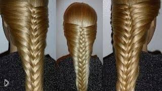 Смотреть онлайн Нежная французская коса, урок плетения