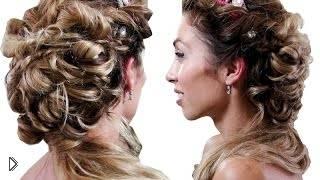 Шикарная женственная прическа для Нового Года - Видео онлайн