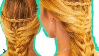 Смотреть онлайн Прическа русалки: красивая коса на каждый день