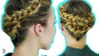 Смотреть онлайн Как заплести косу с помощью узелков
