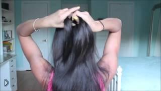 Смотреть онлайн Как плести французскую косу самой себе