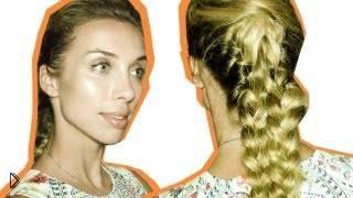 Плетение ленивой четырехпрядной косы - Видео онлайн