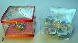 Смотреть онлайн Как сделать коробку для подарка из пластиковой бутылки