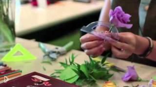 Смотреть онлайн Поделка из цветов своими руками на праздник