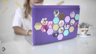 Смотреть онлайн Урок: Украшаем ноутбуки, планшеты и папки своими руками