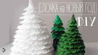 Смотреть онлайн Игрушечная новогодняя елка своими руками