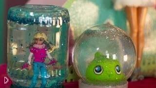 Смотреть онлайн Делаем игрушку для детей в виде снежного шара
