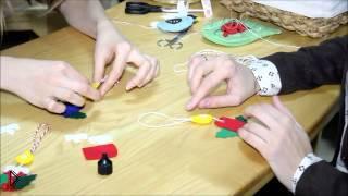 Смотреть онлайн Как сделать игрушку свечку из фетра