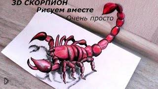 Смотреть онлайн Как нарисовать скорпиона в 3D