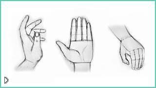 Принцип рисования человеческой руки карандашом - Видео онлайн