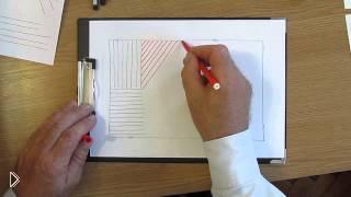 Смотреть онлайн Обучающий урок для начинающих: линии простым карандашом