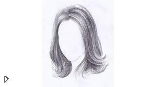 Учимся рисовать длинные волосы карандашом - Видео онлайн