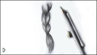 Смотреть онлайн Как нарисовать косу из волос простым карандашом