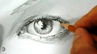 Смотреть онлайн Схема рисования глаза карандашом