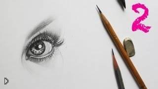 Смотреть онлайн Как рисовать женский глаз простым карандашом урок