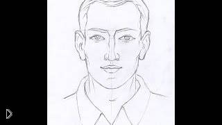 Учимся рисовать лицо мужчины карандашом - Видео онлайн