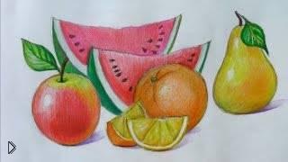 Смотреть онлайн Как нарисовать фрукты цветными карандашами