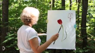 Смотреть онлайн Как научиться рисовать тюльпаны самому урок