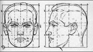 Смотреть онлайн Как нарисовать лицо человека, основы