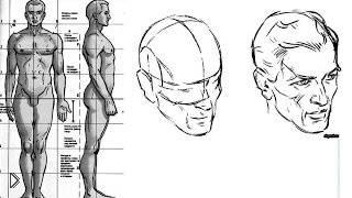 Смотреть онлайн Урок рисования: учимся рисовать тело и лицо человека
