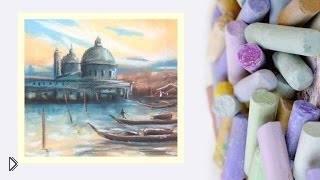Смотреть онлайн Как нарисовать Венецию пастелью