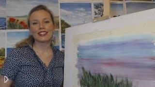Смотреть онлайн Как рисовать траву гуашью поэтапно