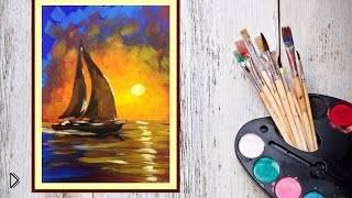 Смотреть онлайн Рисуем импрессионизм гуашью