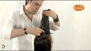 Смотреть онлайн Стрижка лесенкой на длинные волосы