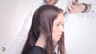 Смотреть онлайн Простая женская стрижка для длинных волос