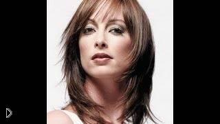 Смотреть онлайн Каскад на длинные прямые волосы