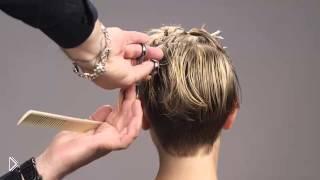 Смотреть онлайн Голливудская женская стрижка на короткие волосы