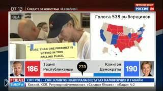 Смотреть онлайн Дональд Трамп празднует победу на выборах президента
