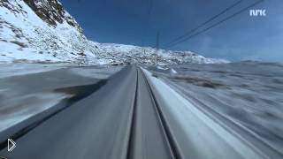 Смотреть онлайн Зима из окна машиниста поезда