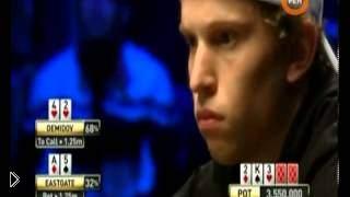 Смотреть онлайн Финальная раздача игры на турнире в покер