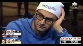 Смотреть онлайн 5 интересных раздач на турнирах по покеру